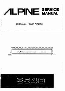 Alpine 3540 Amplifier Manuals