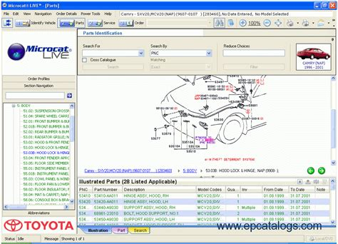 Toyota Parts Usa by Toyota Lexus Scion Microcat Live 2010 Spare Parts Catalog