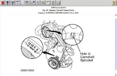 toyota rav timing belt marks engine mechanical