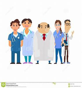 Medical Team. Group Of Hospital Workers Vector Stock ...
