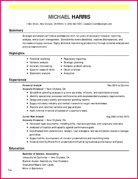 Accounting Resume Exle by 6 Balance Sheet Variance Analysis Template 74184