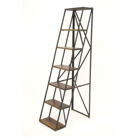 colonne de rangement pour cuisine étagère échelle en fer forgé loft idées déco pour la maison