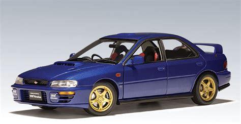 subaru autoart autoart subaru impreza wrx 4 door blue 78622 in 1 18