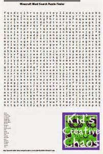 Minecraft Word Search Printable
