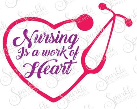 nursing   work  heart cut file cna svg rn svg lpn svg