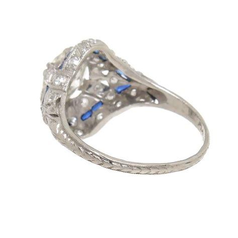 1930 diamond platinum engagement ring at 1stdibs
