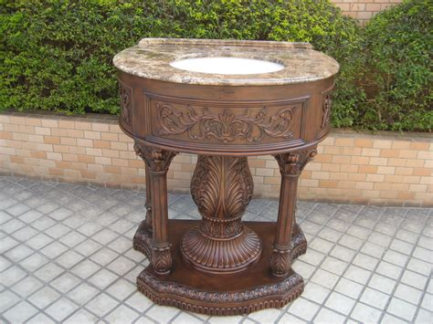 Bath Vanity Sets-traditional Cherry Wood Pedestal Bath