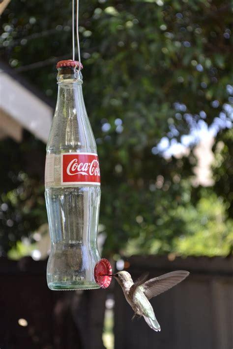 upcycled soda bottle hummingbird feeders