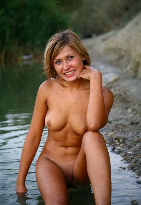 Sweet Russian Hottie Posing Naked At River Russian Sexy