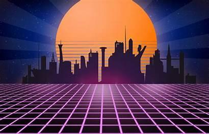 1980 Neon Tron Retrowave Retro Synth Wave