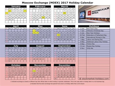 moscow exchange holidays moex holidays