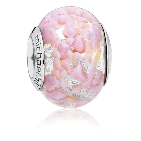 pink murano glass l light pink murano glass charm