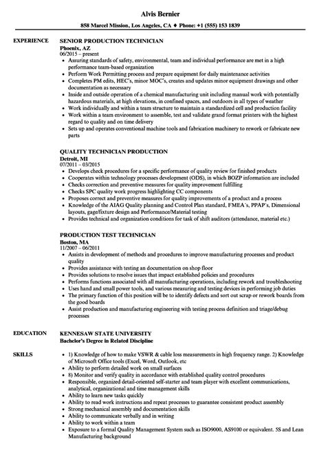 Production Resume by 10 Resume Exles For Manufacturing Resume Sles