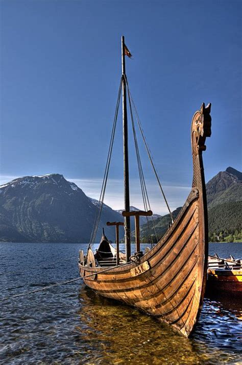 Viking Boat Flags by Viking Ship In Shetland Scotland Vikings