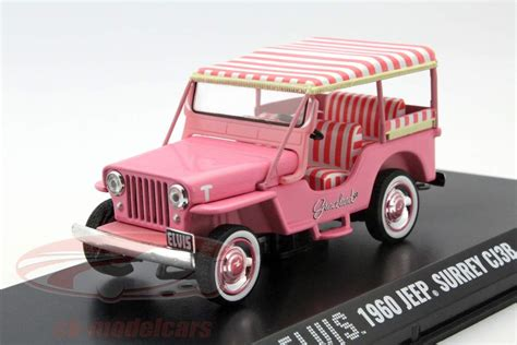 light pink jeep ck modelcars 86472 jeep surrey cj3b elvis year 1960