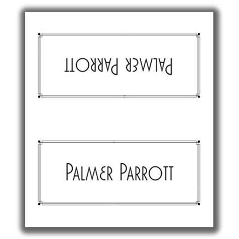 Sided Place Card Template by Place Card Template 7