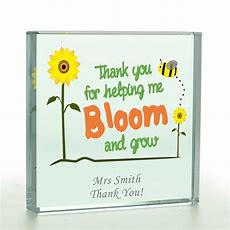 Personalised Thank You For Helping Me Bloom Glass Token