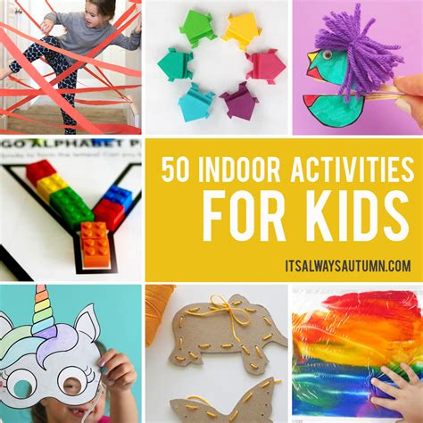 indoor activities  kids   autumn