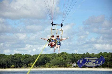 Pontoon Boat Rental Oahu by Parasail Fly High With H2o Sports Parasailing