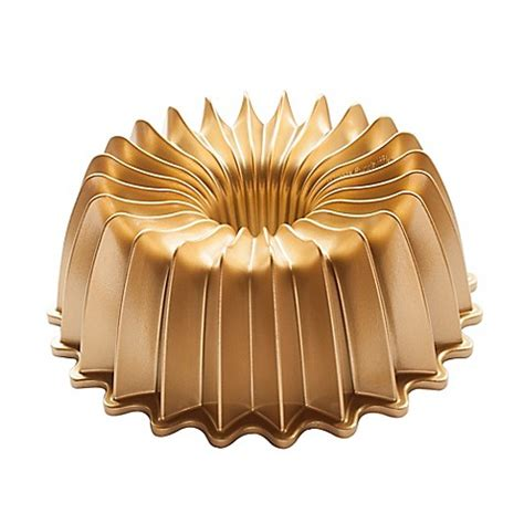 nordic ware premier gold brilliant bundt pan  gold