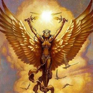 Golden Guardian Angel Courage Protection Blessings ...