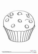 Colouring Muffin Pages Food Become Member Log Activityvillage Activity Village Explore sketch template
