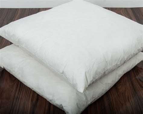 big square pillows square continental duck feather pillow large cotton 1657