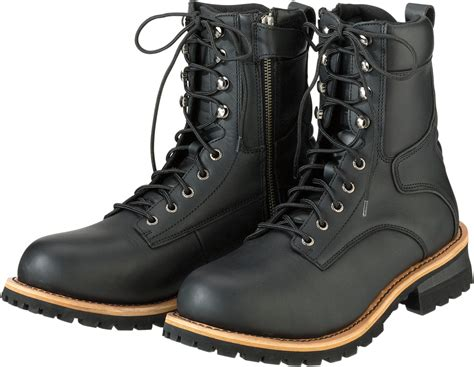 mens black motorcycle riding boots mens z1r black leather m4 motorcycle riding street racing