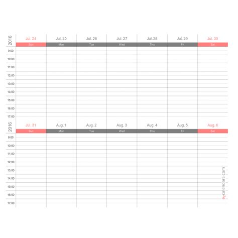 weeks appointment schedule template weekly planner ezcalendars