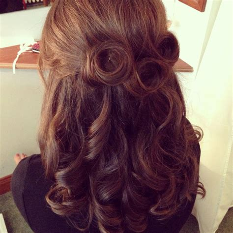 Vintage Half Up Half Down Wedding Hair Wedding