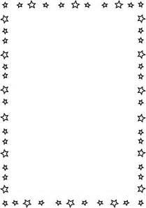 Transparent Page Border Stars