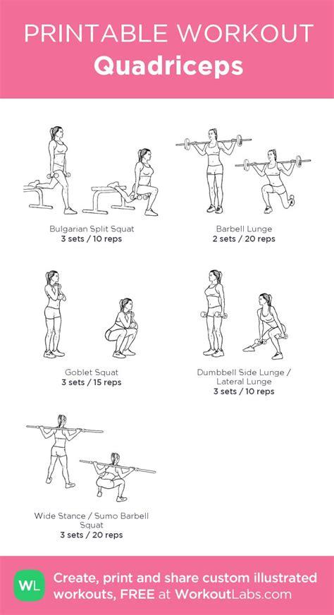 quadriceps quad exercises