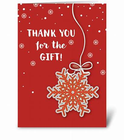 Thank Christmas Gift Cards Greeting Card Scarlet