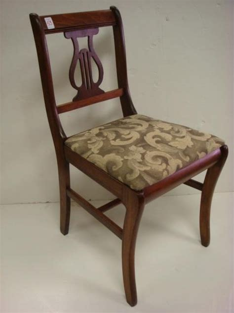 mahogany lyre back chairs 53 six mahogany lyre back dining chairs lot 53