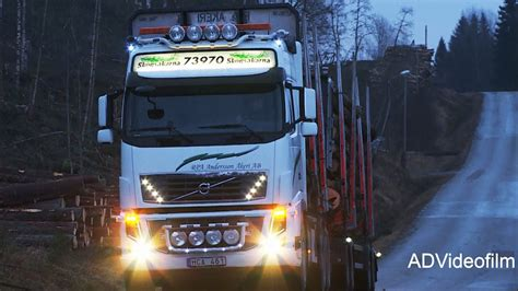 volvo fh timber truck  hp sweden youtube