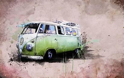 Bus Volkswagen Wallpapers Vw Hippie Kombi Van