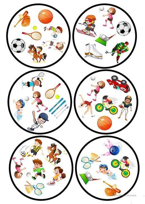 sports dobble game  images esl games