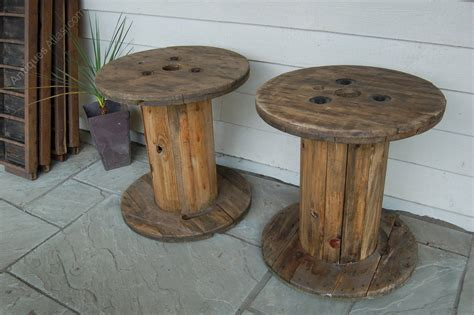 Antiques Atlas   Wooden Cable Drum Coffee Table