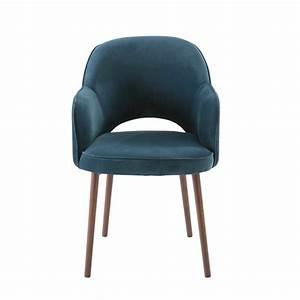 Fauteuil En Velours : fauteuil en velours bleu p trole sacha maisons du monde ~ Dode.kayakingforconservation.com Idées de Décoration