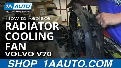 install replace engine radiator cooling fan