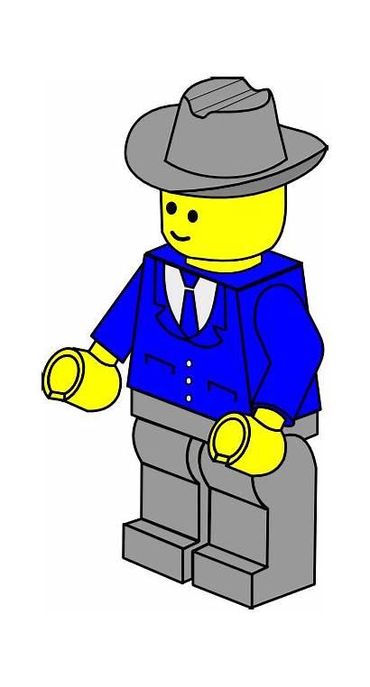 Lego Town Clip Businessman Clipart Svg Clker