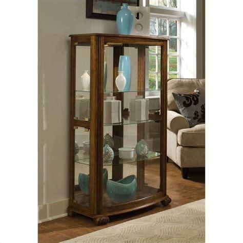 Pulaski Oak Corner Curio Cabinet by Pepper Oak Mantel Curio Cabinet By Pulaski