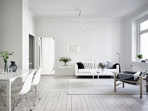 Simple And Minimalist All-white Apartment In Gothenburg