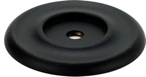 cabinet knob backplate black alno creations shop a615 45 mb knob backplate matte