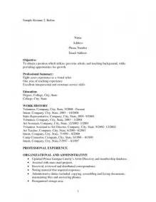 reentering the workforce resume resume exles for teachers rejoining workforce resume template exle