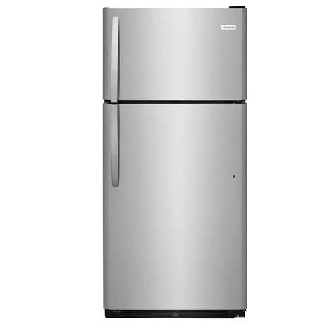 best refrigerator shop frigidaire 18 cu ft top freezer refrigerator easycare stainless steel at lowes com
