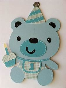 First Birthday Card, Happy Birthday Card, Teddy Bear Card ...