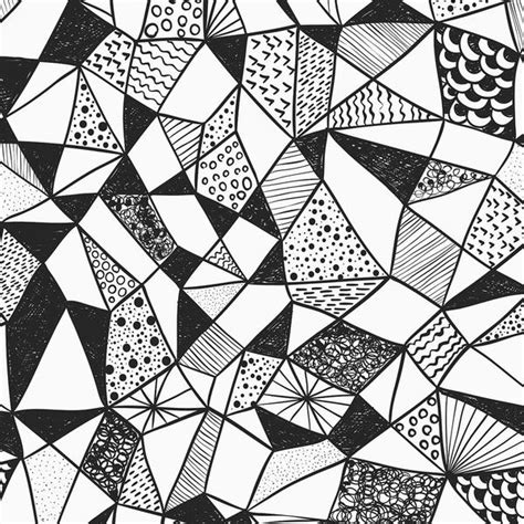 Abstract Geometric Shapes Black And White by Geometric Shapes Wallpaper For Walls Contemporary Black