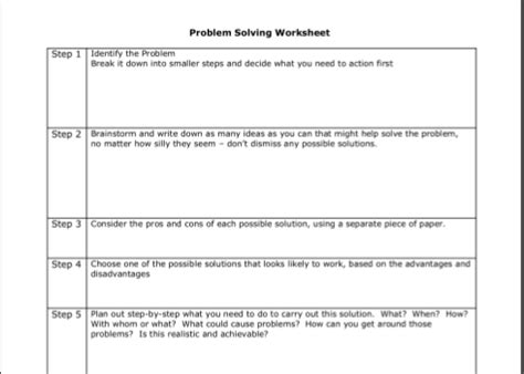 15 Best Images Of Problem Solving Worksheets For Adults  Adult Problem Solving Worksheets