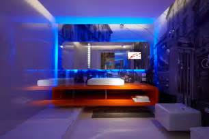 led interior home lights interior fantastic blue led light bulb in the bathroom paired with rectangle mirror above the